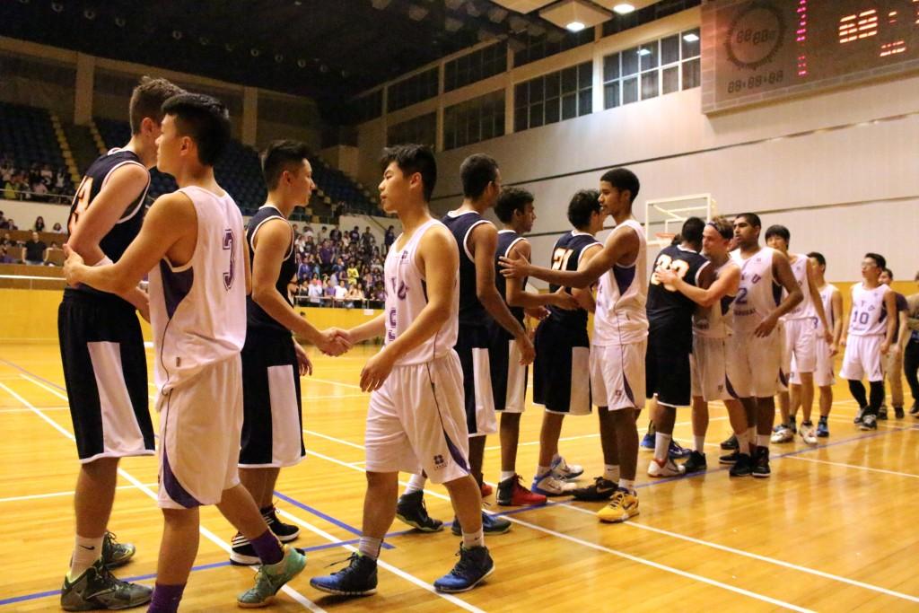Sports story NYU basketball handshake